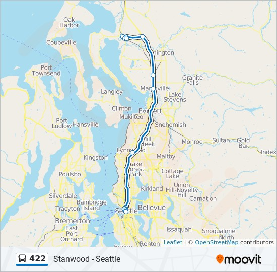 422 Route Time Schedules Stops Amp Maps Seattle 2nd Ave
