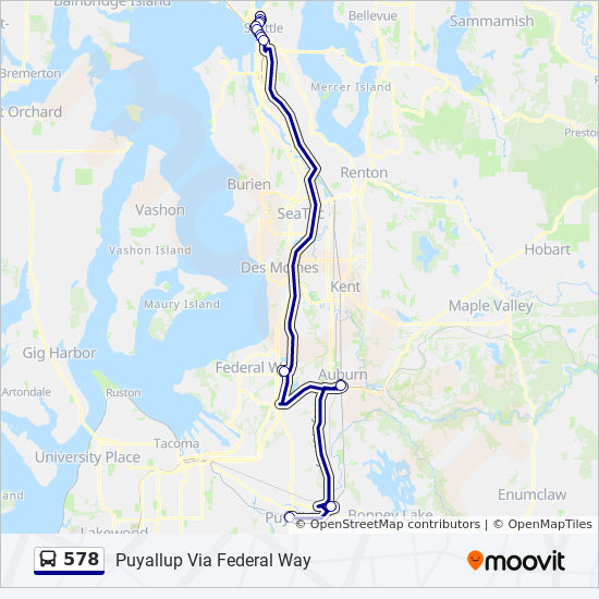 578 Route Time Schedules Stops Amp Maps Puyallup Via