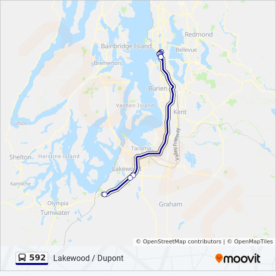 592 Route Time Schedules Stops Amp Maps Lakewood Dupont