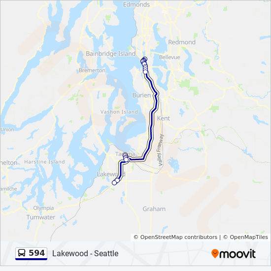 594 Route Time Schedules Stops Amp Maps Seattle