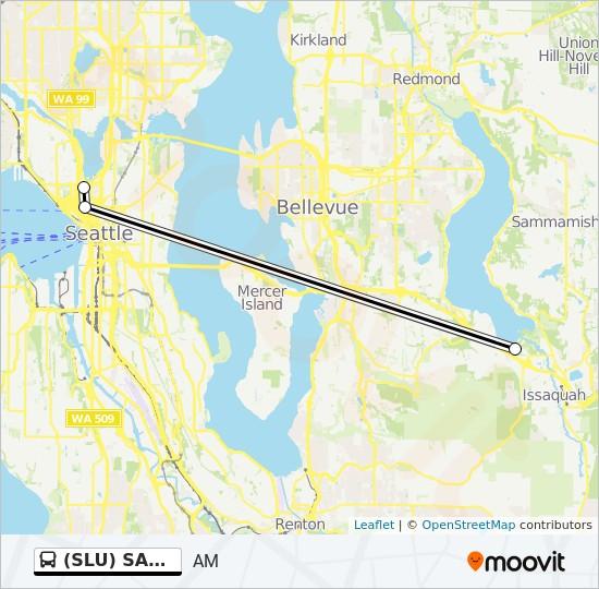 SLU) SAMMAMISH Route: Time Schedules, Stops & Maps - AM on sce map, bequia island map, spu map, semo map, thiel college map, san map, washington university st. louis map, slp map, seattle streetcar map, siu campus map, swu map, sou map, slo map, svg map, stp map, sxm map, clarkson university campus map, boeing st. louis campus map, snc map,