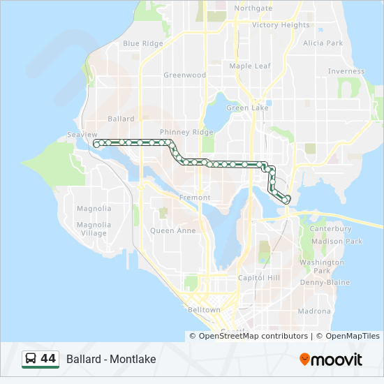 44 Route Time Schedules Stops Amp Maps Ballard Wallingford