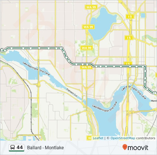 44 Route: Time Schedules, Stops & Maps   University Of Washington
