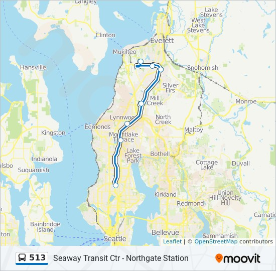 513 Route Time Schedules Stops Amp Maps Seattle 5th Ave