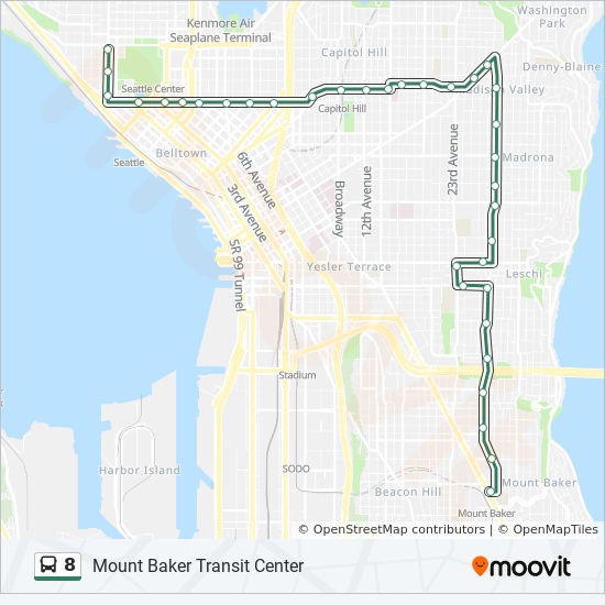 8 Route: Time Schedules, Stops & Maps - Mount Baker Transit ... on seattle ferry parking map, seattle i 5 map, seattle seatac airport terminal map, seattle king county map, seattle monorail route map, seattle streetcar route map, seattle population density map, seattle rail map, houston metro lines map, seattle metro city map, seattle subway system map, king metro bus map, seattle transit map, seattle eastside map bellevue, seattle washington map, seattle metro route 75, houston metro bus map, seattle underground bus tunnel, alaskan way seattle map,