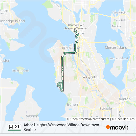 21 Route Time Schedules Stops Amp Maps Arbor Heights