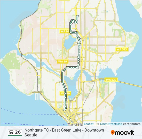 26 Route Time Schedules Stops Amp Maps Downtown Seattle