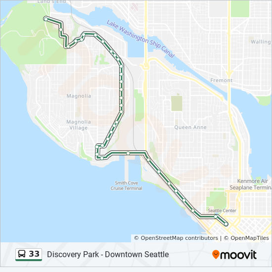 33 Route Time Schedules Stops Amp Maps Downtown Seattle