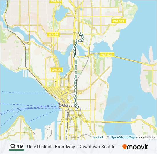 49 Route Time Schedules Stops Amp Maps Broadway