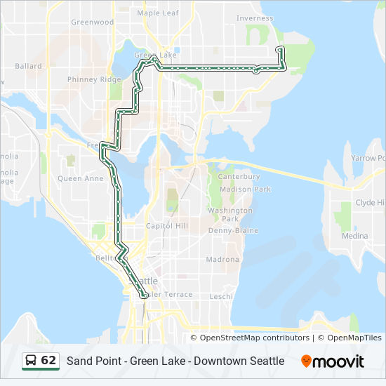 62 Route Time Schedules Stops Amp Maps Downtown Seattle