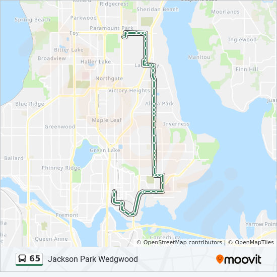 lake district bus map 65 Route Time Schedules Stops Maps Jackson Park Wedgwood lake district bus map