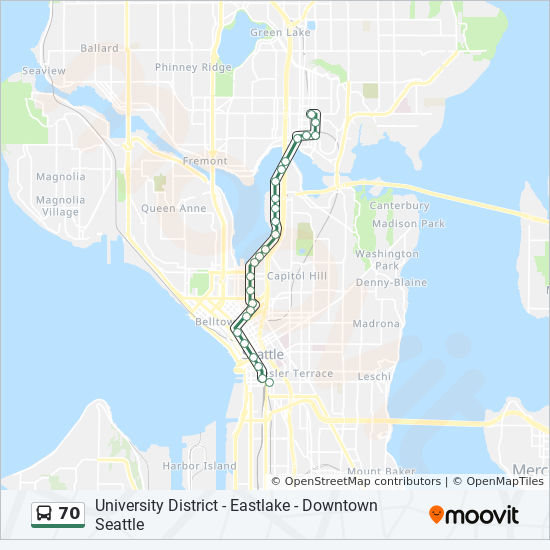 70 Route: Time Schedules, Stops & Maps - Downtown Seattle Fairview