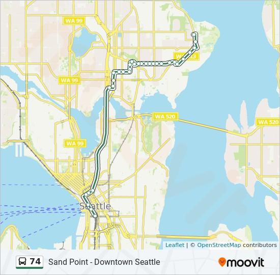 74 Route: Time Schedules, Stops & Maps - Downtown Seattle