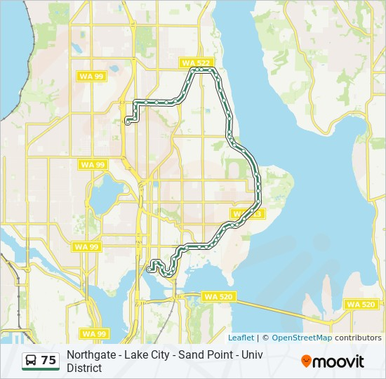 75 Route Time Schedules Stops Amp Maps Northgate Lake City