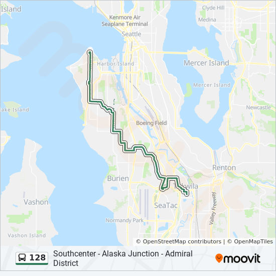 128 Route Time Schedules Stops Amp Maps Admiral District