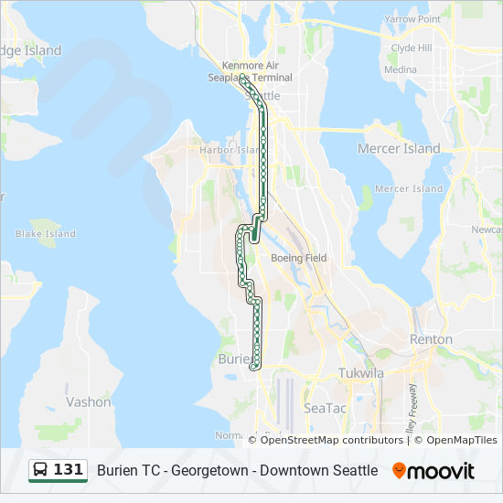 131 Route Time Schedules Stops Amp Maps Burien Transit