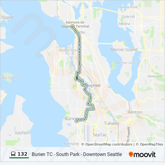 132 Route Time Schedules Stops Amp Maps Burien Transit