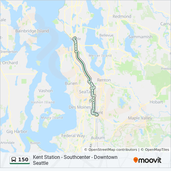 150 Route Time Schedules Stops Amp Maps Kent Southcenter
