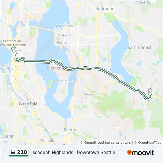 218 Route Time Schedules Stops Amp Maps Downtown Seattle