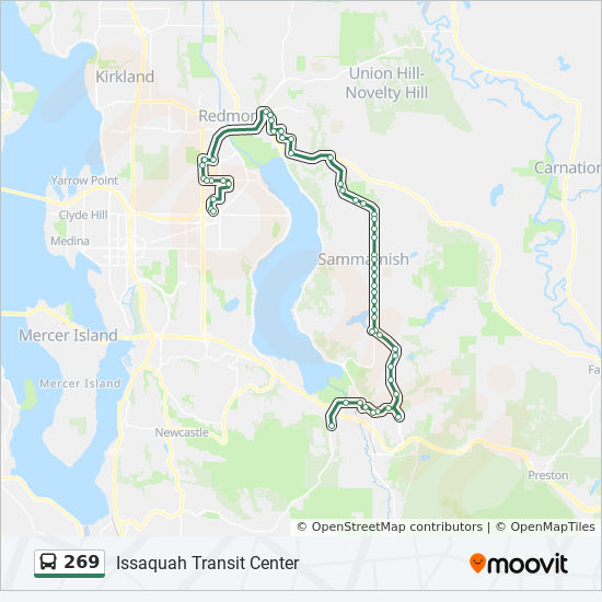 269 Route Time Schedules Stops Amp Maps Overlake