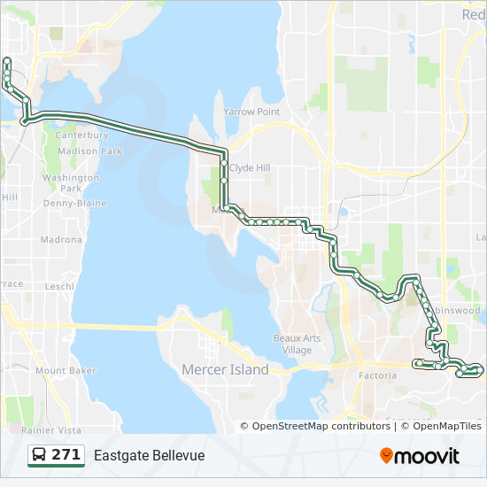 271 Route Time Schedules Stops Maps Eastgate Bellevue