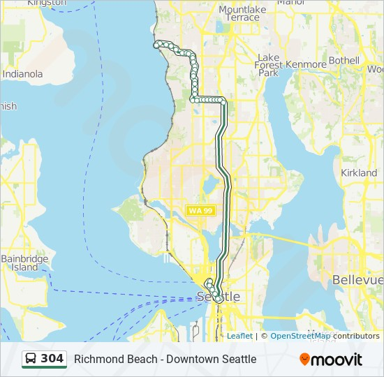 304 Route Time Schedules Stops Amp Maps Downtown Seattle