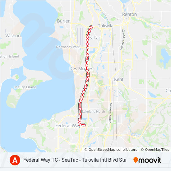 A LINE Route: Time Schedules, Stops & Maps - Federal Way