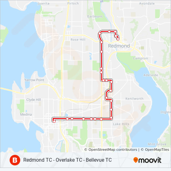 B Line Route Time Schedules Stops Amp Maps Bellevue
