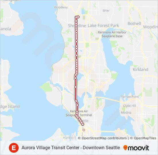 Linie E Line Fahrplane Haltestellen Karten Aurora