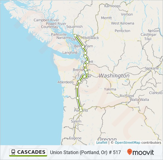 CASCADES Route: Time Schedules, Stops & Maps - Union Station ...
