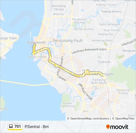 Peta Laluan bas 701