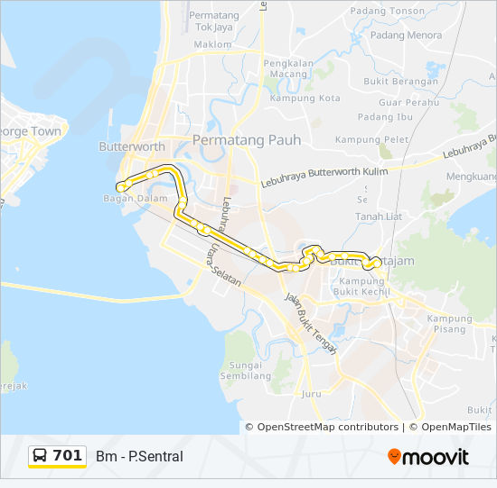 701 bus Line Map