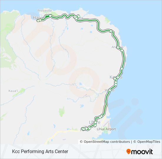 kauai bus route map 400 Route Time Schedules Stops Maps Lihue Mainline kauai bus route map