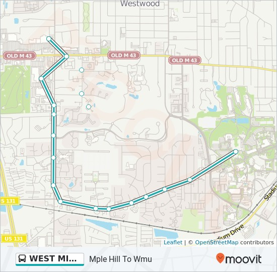 West Michigan Route Time Schedules Stops Maps Mple Hill To Wmu