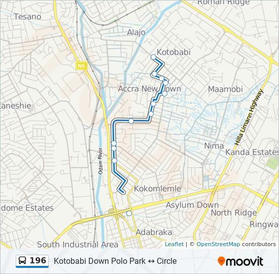 Polo Park Map 196 Route: Time Schedules, Stops & Maps   Kotobabi Down Polo Park