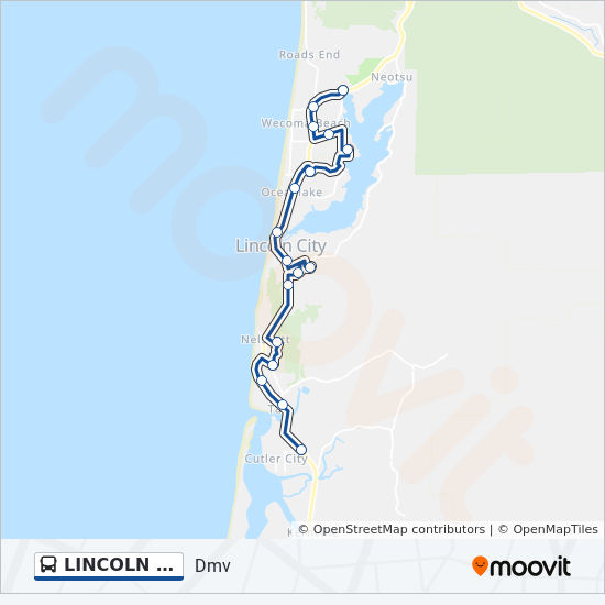 LINCOLN CITY LOOP Route: Time Schedules, Stops & Maps - Dmv on map of grand rapids mi, map of cannon beach, map of florence, map of lewes, map of medford, map of pacific city, map of venice ca,