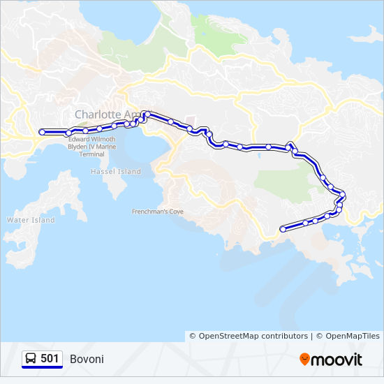 Map 501.501 Route Time Schedules Stops Maps Bovoni