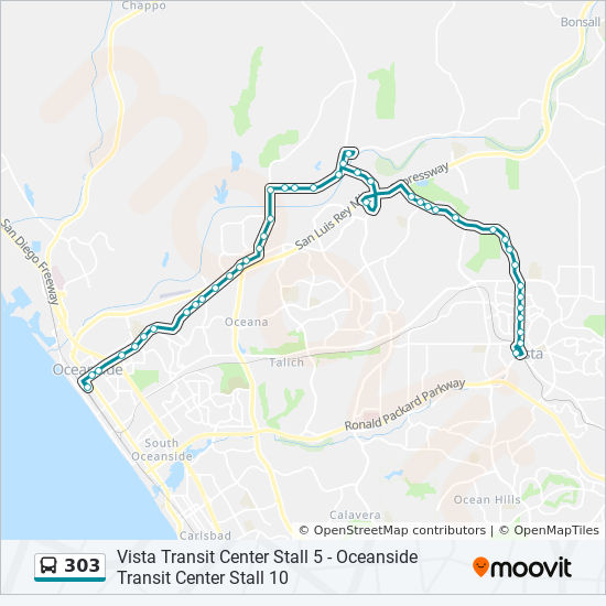 303 Route: Time Schedules, Stops & Maps - Oceanside on oceanside mapquest, garden grove ca map, sylmar ca map, riverside ca map, madera ca map, carlsbad ca map, long beach ca map, vacaville ca map, oceanside california, oceanside city map, murrieta ca map, oceanside google maps, cypress ca map, victorville ca map, chicago ca map, san dimas ca map, camp pendleton ca map, oceanside street map, oceanside beach, del mar ca map,