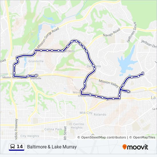 14 Route: Time Schedules, Stops & Maps - Baltimore & Lake Murray