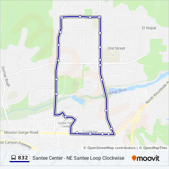 832 Route: Time Schedules, Stops & Maps