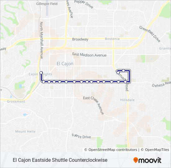 875 Bus Line Map
