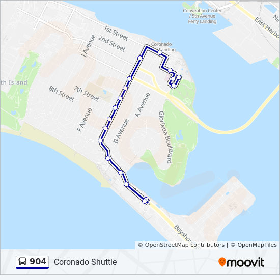 904 Route: Time Schedules, Stops & Maps