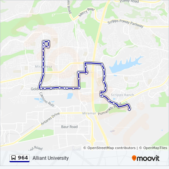 964 Route Time Schedules Stops Amp Maps Alliant University