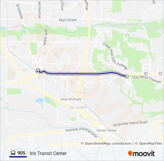 Linea 905 Horarios Mapas Y Paradas