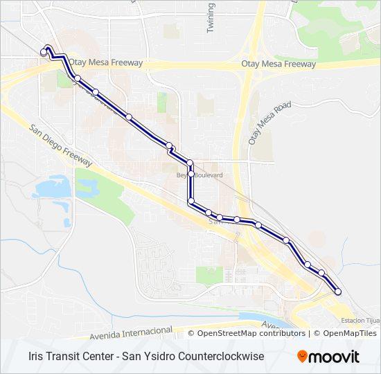 San Isidro California Map.907 Route Time Schedules Stops Maps Iris Transit Center