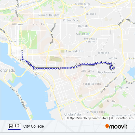 12 Route: Time Schedules, Stops & Maps - Skyline Hills