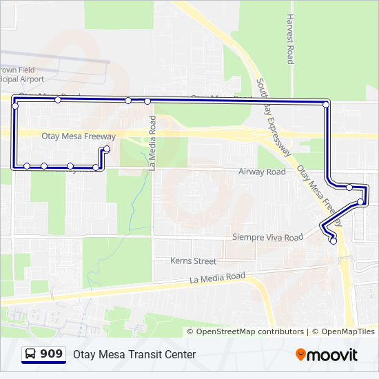 909 Route: Time Schedules, Stops & Maps - Otay Mesa Transit Center