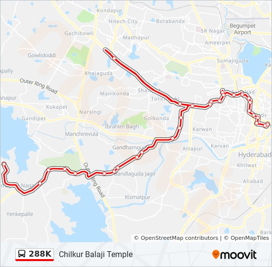 chilkur balaji temple route map 288k Route Time Schedules Stops Maps Chilkur Balaji Temple chilkur balaji temple route map