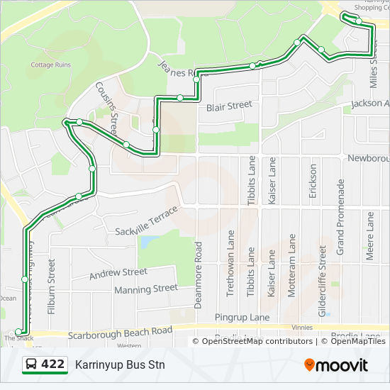 422 Route Schedules Stops Amp Maps Scarborough Beach Bus Stn