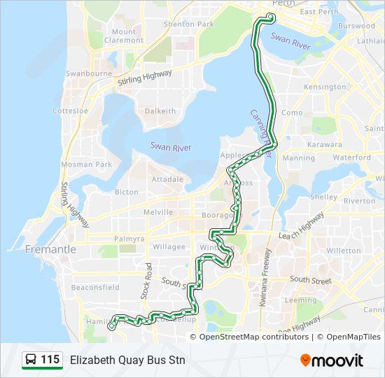 115 Route Schedules Stops Amp Maps Elizabeth Quay Bus Stn